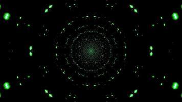 lumières vertes formant des cercles 3d illustration fond d'écran