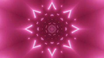 lumières colorées et formes kaléidoscope illustration 3d pour fond ou papier peint photo