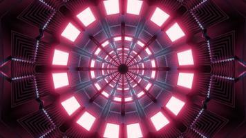 lumières rouges et bleues et formes kaléidoscope illustration 3d pour fond ou papier peint