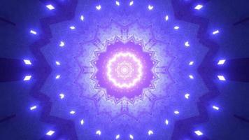 lumières colorées et formes kaléidoscope illustration 3d pour le fond ou le papier peint photo