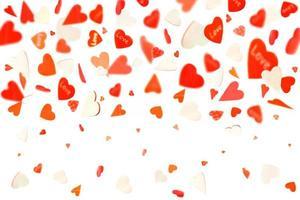 coeurs isolés sur fond blanc