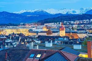 Vue de la ville de Lucerne, Suisse