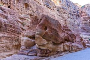 Pierre en forme d'éléphant à Petra, Jordanie