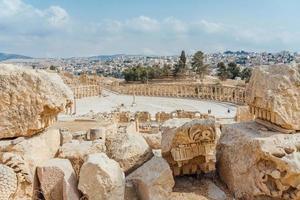Forum à Gerasa, aujourd'hui Jerash, Jordanie photo