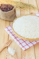 riz blanc thaï au jasmin et riz aux baies de riz
