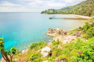 Vue aérienne des plages de Phuket, Thaïlande photo