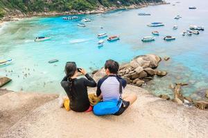 Les gens sur les îles Similan, Phang Nga, Thaïlande, 2017 photo
