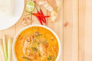 soupe tom yam kong, typique de la Thaïlande