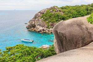 Point de vue sur l'île de similan, phuket, thaïlande photo