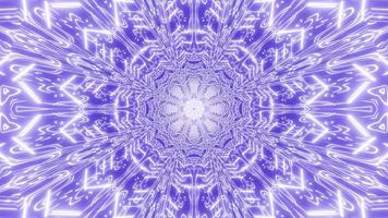 lumières bleues et blanches et formes kaléidoscope illustration 3d pour le fond ou le papier peint photo
