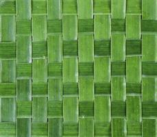 fond de feuille de bananier tissé vert photo