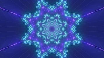 formes bleues et violettes et conception kaléidoscope illustration 3d pour le fond ou le papier peint photo