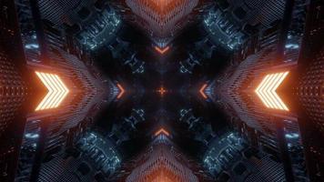 Conception de kaléidoscope illustration 3d colorée pour fond ou papier peint