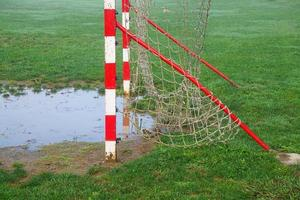 filet de football sur un terrain