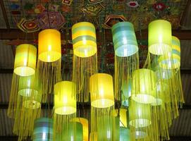 lampes orientales en soie photo