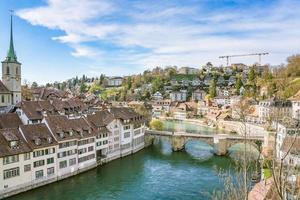 Vue sur le vieux centre-ville de Berne en Suisse