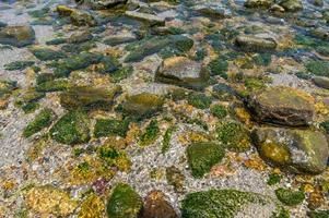eau cristalline avec de nombreux rochers