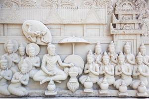 Sculpture sur pierre de Bouddha en Thaïlande photo