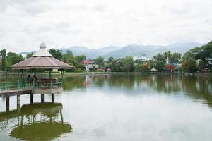 Réservoir dans la province de Mae Hong Son, Thaïlande photo