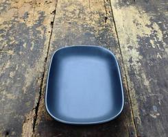 assiette rectangulaire ronde