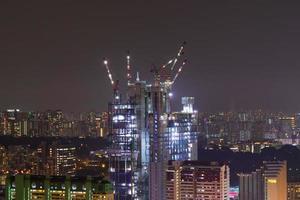 Travaux de construction dans la ville de singapour