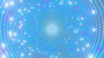 Cercles bleus concentriques conception de kaléidoscope illustration 3d pour le fond ou le papier peint