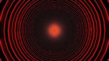 Cercles concentriques rouges conception de kaléidoscope illustration 3d pour le fond ou le papier peint