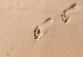 empreintes de pas dans le sable photo