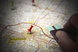 carte routière de Bologne photo