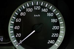 tableau de bord de vitesse de voiture photo