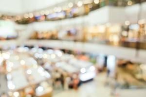 flou abstrait et intérieur du centre commercial défocalisé photo