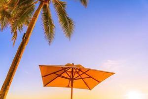 belle nature tropicale et parapluie photo