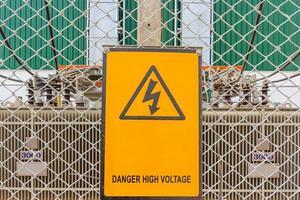 panneau d'avertissement sur un chantier photo