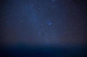 voie lactée dans un ciel étoilé photo
