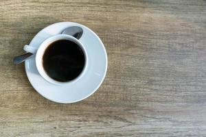 café sur la table
