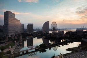 Yokohama, Japon, 2020 - lever de soleil sur la ville