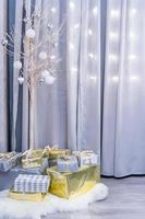 coffrets cadeaux, fête de Noël photo