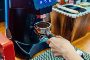 gros plan, de, faire café