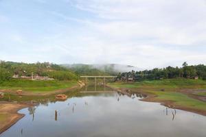 Pont de Sagklaburi à Kanchanaburi, Thaïlande