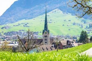 Vue de la ville de stans en suisse