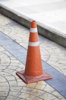 cône de signalisation rouge photo