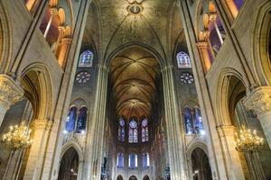 Intérieur de la cathédrale de notre dame, paris, france