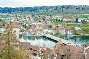 Vue panoramique sur la vieille ville de Schaffhouse, Suisse photo