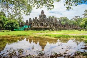 Ancien temple Bayon Angkor complex, Siem Reap, Cambodge