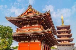 Temple Sensoji dans la région d'Asakusa, Tokyo, Japon photo