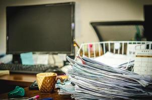 finance d'entreprise, comptabilité, statistiques et concept de recherche analytique photo