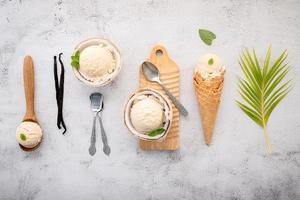 glace à la noix de coco