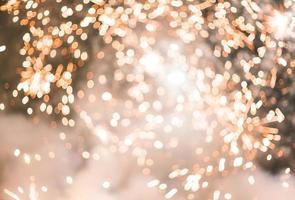 lumières bokeh dorées photo