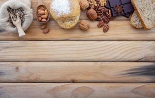 bordure d'ingrédients frais avec espace de copie photo