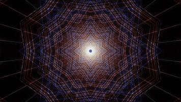 Illustration de conception kaléidoscope 3d art ligne colorée pour le fond ou la texture photo